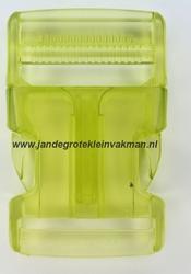 Insteekgesp, kunststof, 40mm, transparant groen
