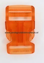 Insteekgesp, kunststof, 25mm, transparant geel