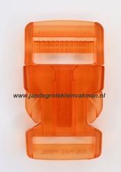 Insteekgesp, kunststof, 30mm, transparant oranje