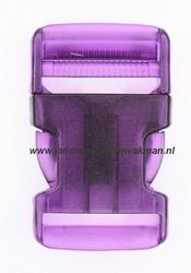 Insteekgesp, kunststof, 30mm, transparant paars