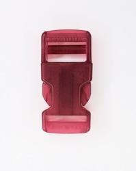 Insteekgesp, kunststof, 25mm, transparant roze