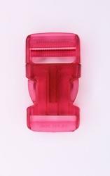 Insteekgesp, kunststof, 30mm, transparant roze