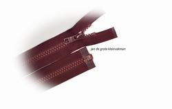 Rits deelbaar, bloktand, nylon, 90cm, kleur 021, bordeaux