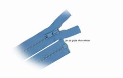 Rits deelbaar, bloktand, nylon, 90cm, kleur 546, lichtblauw