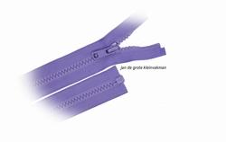 Rits deelbaar, bloktand, nylon, 90cm, kleur 533, lila