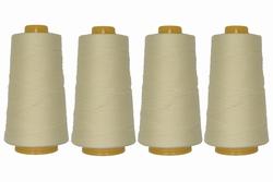 Lockgaren, polyester, ecru, 3000yrds, prijs per vier