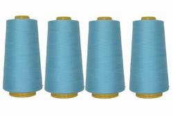 Lockgaren, polyester, babyblauw, 3000yrds, prijs per vier