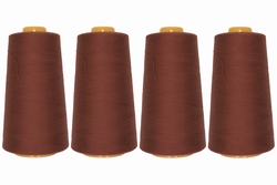 Lockgaren, polyester, brick, 3000yrds, prijs per vier