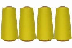 Lockgaren, polyester, geel, 3000yrds, prijs per vier