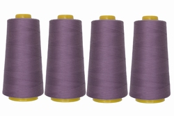 Lockgaren, polyester, donkerlila, 3000yrds, prijs per vier