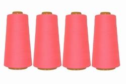 Lockgaren, polyester, fluorroze, 3000yrds, prijs per vier