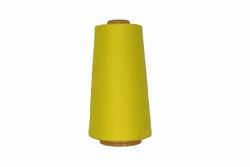 Lockgaren, polyester, geel, 3000yrds, prijs per stuk