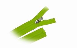 Rits deelbaar, bloktand, nylon, 55cm, kleur Fluorgroen