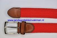 Herenriem elastisch 3cm breed, 110cm lang, rood
