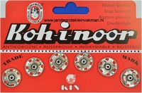 Naaidrukkers zilverkleur 15.9mm, 6 stuks