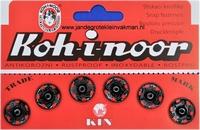 Naaidrukkers zwart 15,9mm, 6 stuks