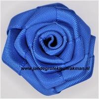 Roosje opnaaibaar. Kobaltblauw, ca. 35mm