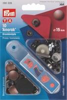 Prym inslaanbare drukknopen, bronskleur, 10 stuks, 15mm