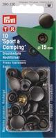 Prym inslaanbare drukknopen, navul,  zwart 10 stuks, 15mm