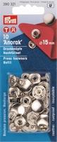 Prym inslaanbare drukknopen, navul, zilverkl, 10 stuks, 15mm