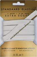 Elastiek, standaard, wit, 10mm, kaart met 3 meter