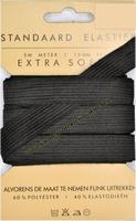 Elastiek, standaard, zwart, 15mm, kaart met 5 meter