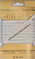 Elastiek, standaard, wit, 6mm, kaart met 10 meter
