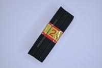 Kleding elastiek geribbeld, zwart, 30mm breed, rol van 250cm