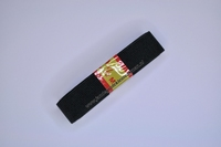 Kleding elastiek geribbeld, zwart, 20mm breed, rol van 250cm