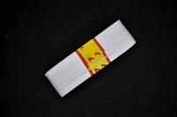 Kleding elastiek geribbeld, wit, 30mm breed, rol van 250cm