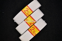Kleding elastiek geribbeld, wit, 25mm, 3 rollen van 250cm