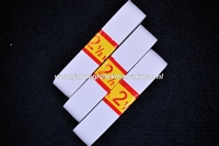 Kleding elastiek geribbeld, wit, 20mm, 3 rollen van  250cm