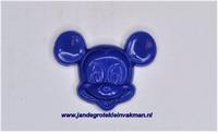 Kunststof knoopje blauiw ca.15mm Mickey Mouse