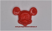 Kunststof knoopje rood ca.15mm Mickey Mouse