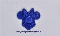 Kunststof knoopje blauiw ca.15mm Minnie Mouse