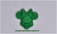 Kunststof knoopje groen ca.15mm Minnie Mouse