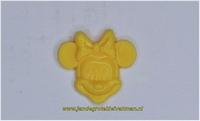 Kunststof knoopje geel ca.15mm  Minnie Mouse