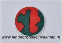 Kunststof knoop rood groen ca.20mm  Mickey