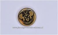 Metalen knoopje bronskleurig ca. 15mm Minnie Mouse