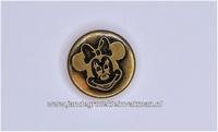 Metalen knoopje bronskleurig ca. 15mm Minnie Mouse