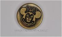 Metalen knoopje bronskleurig ca. 20mm Minnie Mouse