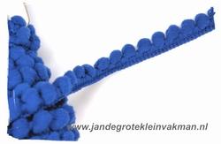 Bolletjesband (fijn), blauw, ca.12mm, per meter