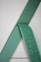 Klittenband YKK, opnaaibaar per meter, 20mm breed, d-groen