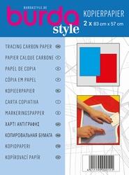 Burda kopieerpapier voor patronen, blauw en rood