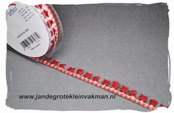 Sier of afwerkband kerst thema, ca 15mm breed, per meter