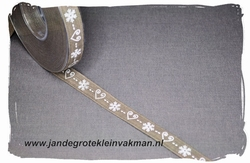 Sier of afwerkband kerst thema, ca. 25mm breed, per meter