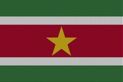 Landenvlag Suriname, 155cm x 90cm