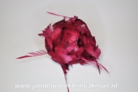 Veren corsage donkerrood, small