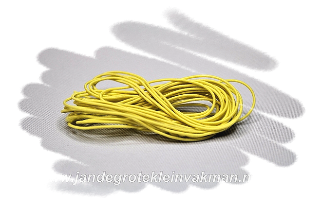 Sieraden elastiek 0,8mm, citroengeel, per 3 meter