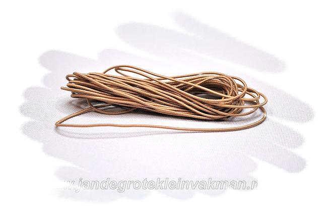 Sieraden elastiek 0,8mm, lichtbruin, per 3 meter